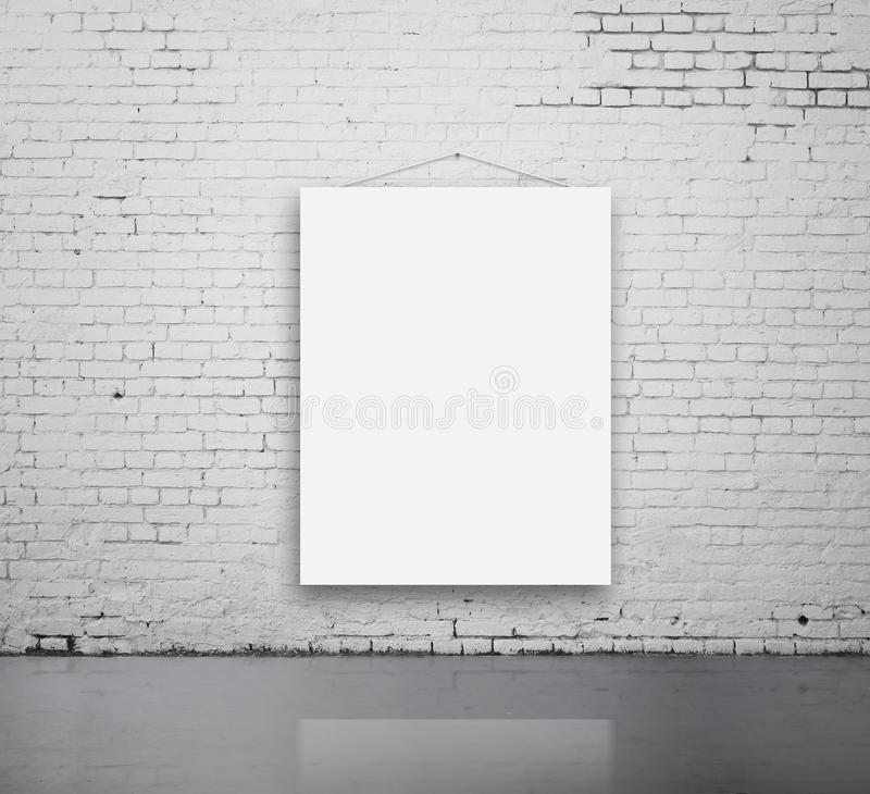 Blank poster on wall stock image Image of hanging, brick - 33488131