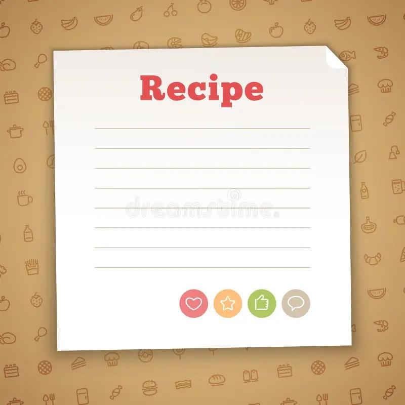Blank Recipe Card Template Stock Vector - Image 54142430 - blank card template