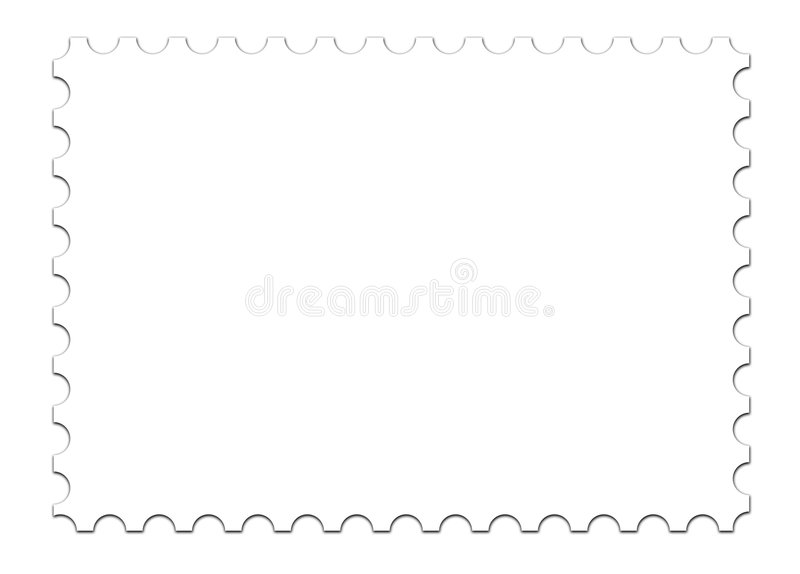 Blank Stamp Template On White Stock Illustration - Illustration of