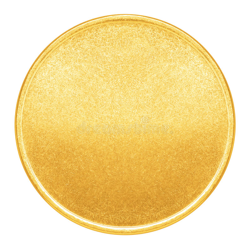 Blank Template For Gold Coin Or Medal Stock Image - Image of metal - gold medal templates