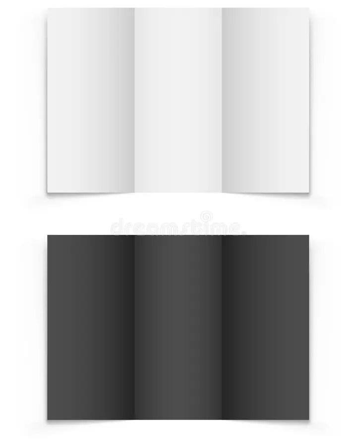 Blank tri-fold brochure stock vector Illustration of print - 47435554