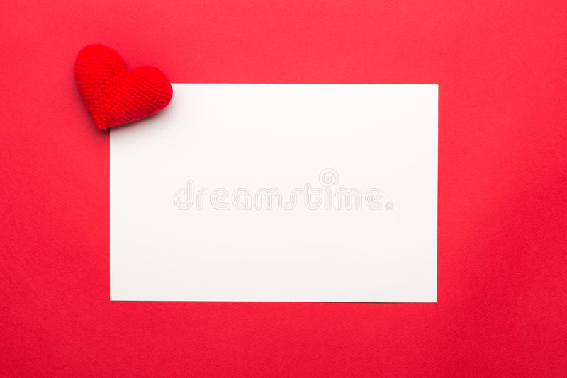 Blank Valentines Day Card With Little Hearts Red Hearts On White