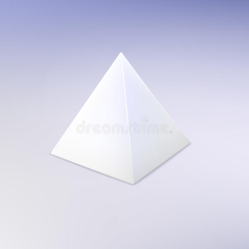 Blank vector white pyramid stock vector Illustration of icon - 63374777 - blank pyramid template