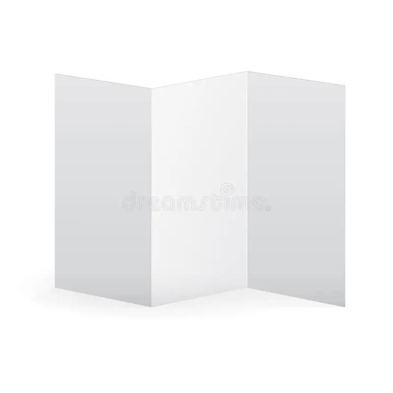 Blank Vector White Tri Fold Brochure Template Stock Vector