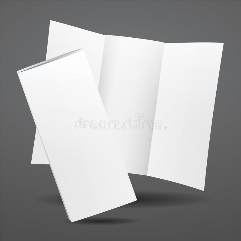 Blank Vector White Tri Fold Brochure Template Stock Vector - blank tri fold brochure template