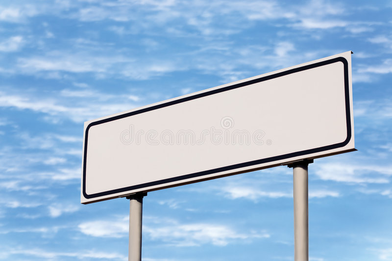Audio Car Wallpaper Download Blank White Signpost Road Sign Guide Post Sky Stock Image