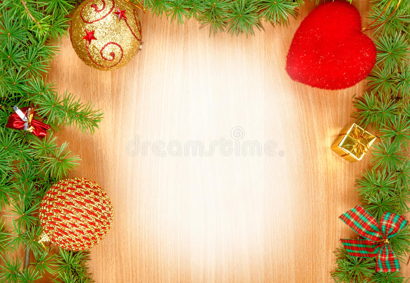 Blank White Space On Wood Greeting Card For New Year\u0027s Holidays