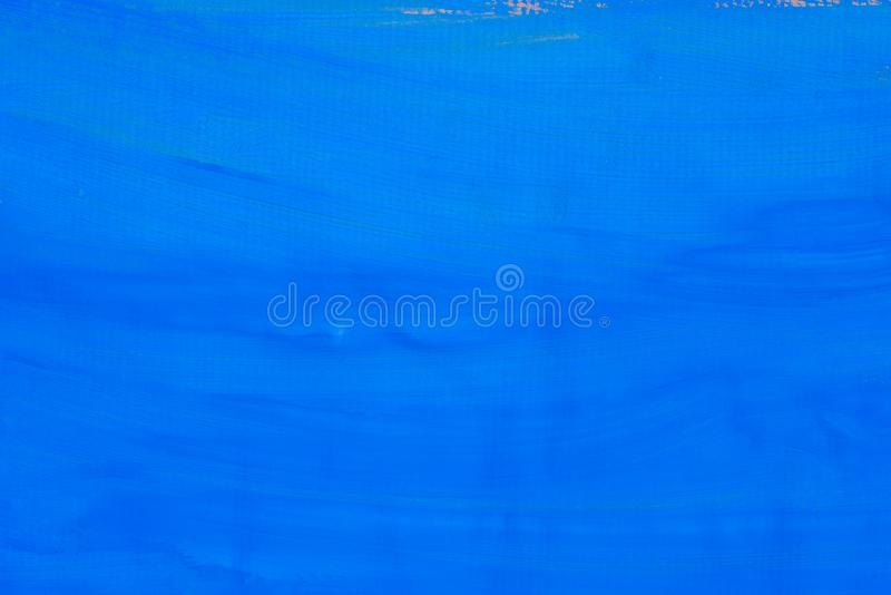 Blue Abstract Painted Texture On Paper Background Stock Photo