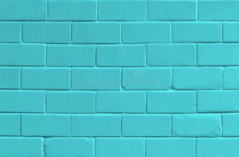 Cute Aqua Green Wallpaper Blue Background With Old Brick Wall Stock Image Image Of