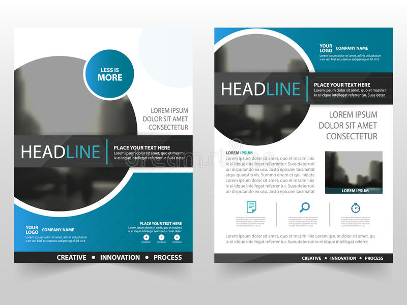 Blue Black Circle Business Brochure Leaflet Flyer Annual Report - annual report template design