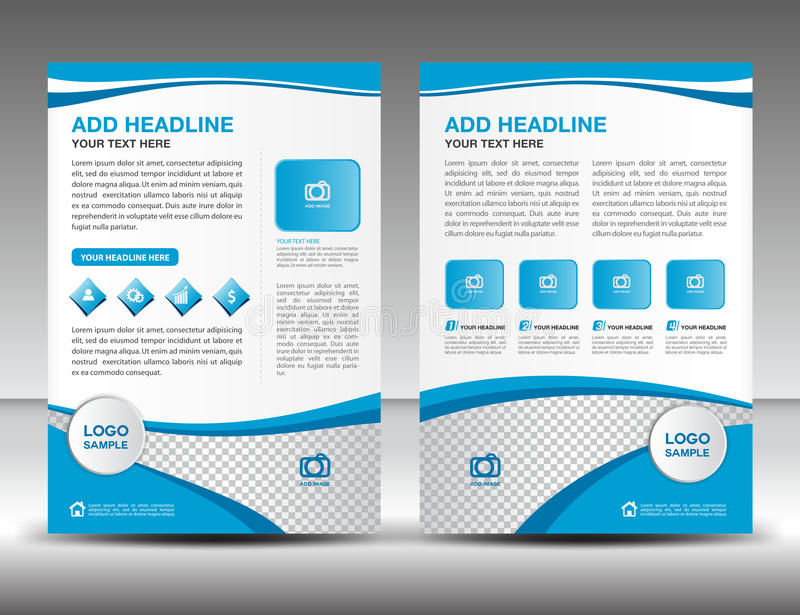 Blue Business Brochure Flyer Design Layout Template In A4 Size - sample business brochure
