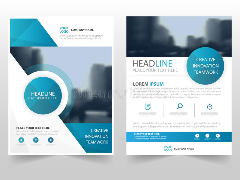 Blue Circle Technology Business Brochure Leaflet Flyer Annual Report - annual report template design