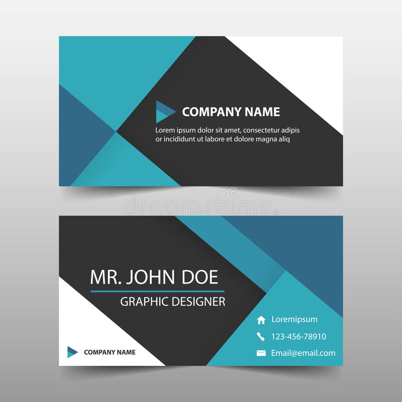 Blue Corporate Business Card, Name Card Template ,horizontal Simple - template for name cards
