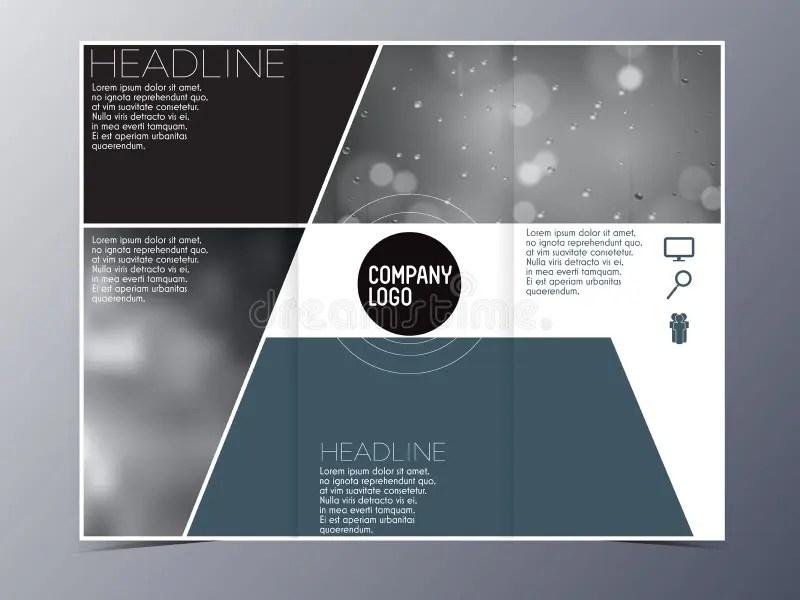Blue Green Modern Brochure Design Template Vector Tri-fold Stock - modern brochure design