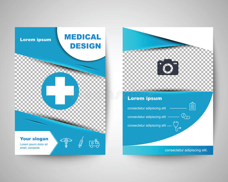 Blue Medical Flyer Layout Template Stock Vector - Illustration of