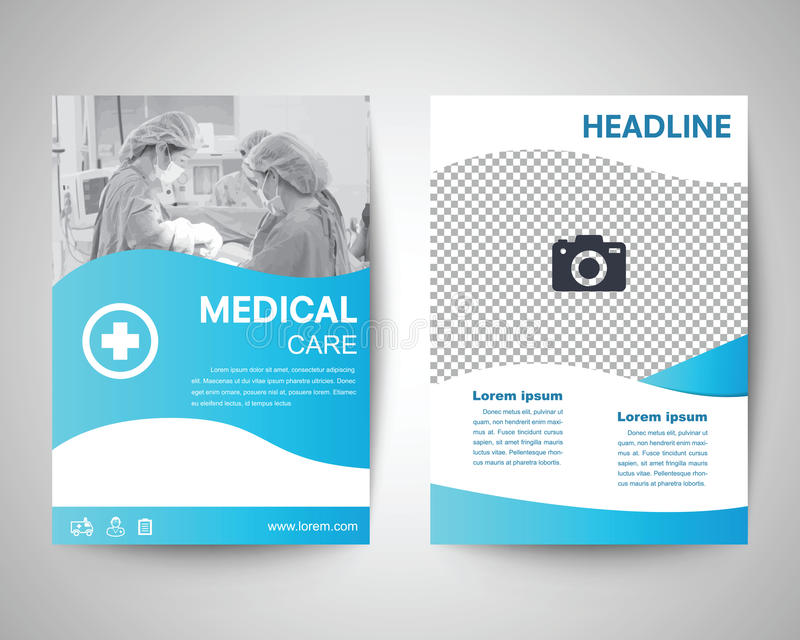 Blue Medical Flyer A4 Template Stock Vector - Illustration of