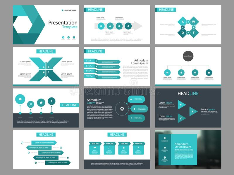 Blue Triangle Bundle Infographic Elements Presentation Template