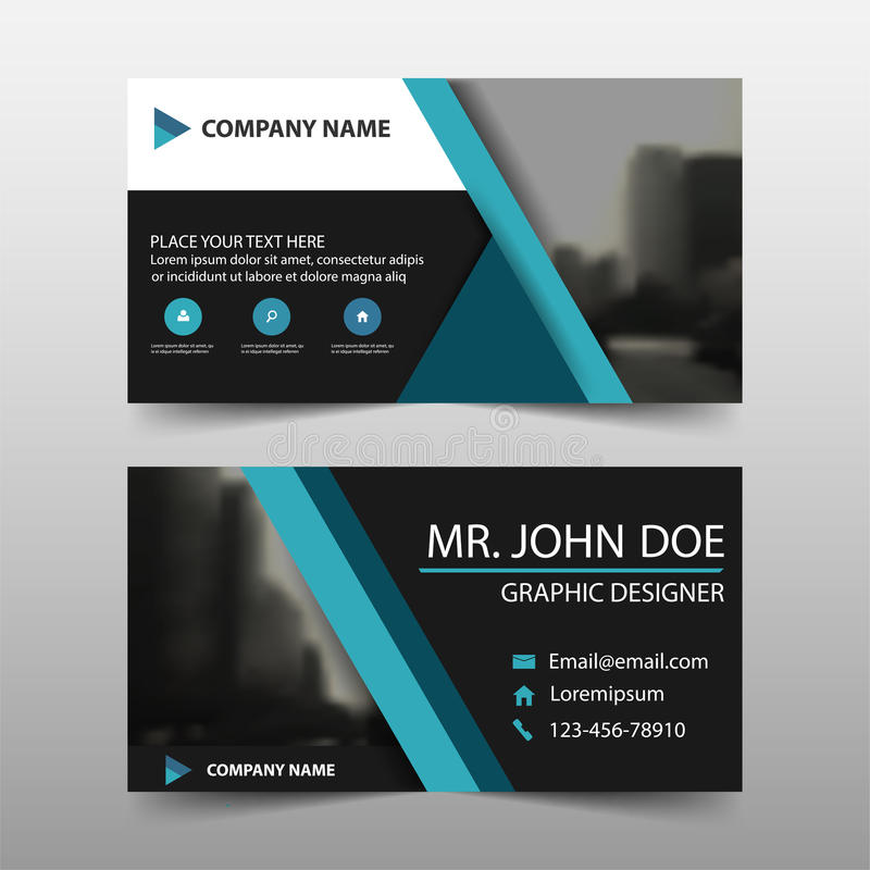 Blue Triangle Corporate Business Card, Name Card Template - template for name cards