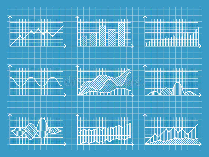 Blueprint Infographic Line Graphs And Charts Template For - line graphs template