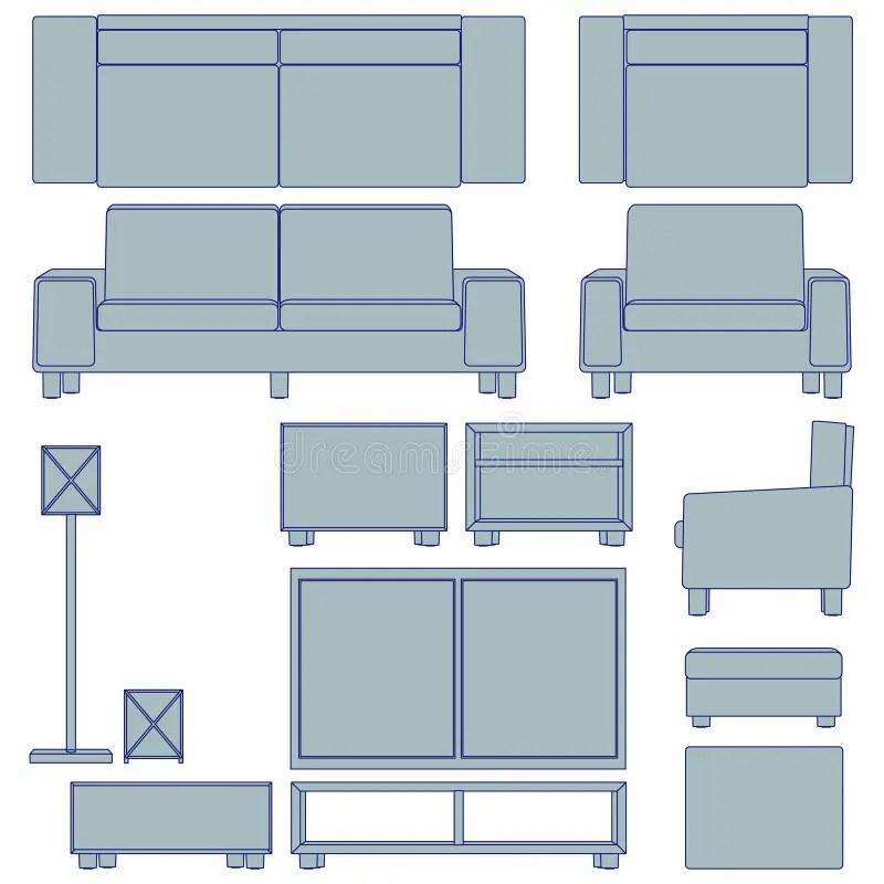 Blueprint Living Room Furniture Royalty Free Stock Images - Image - free living room furniture