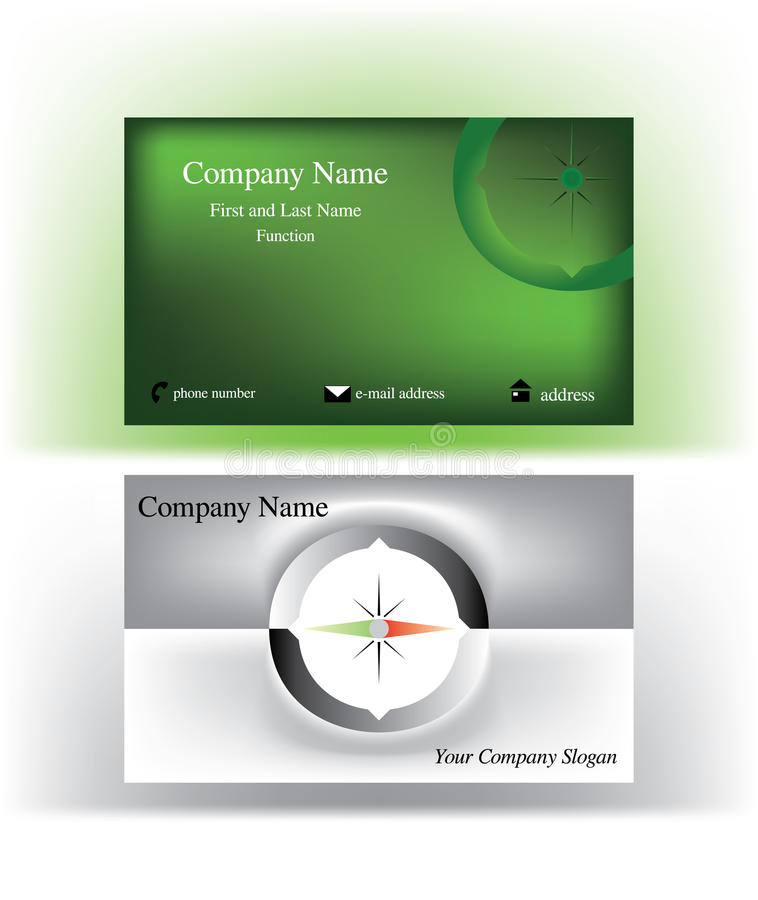 Bold Business Cards With O Letter Symbol Stock Vector - Illustration