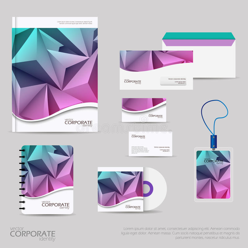 Brand Identity Company Style Template Demonstrated On Office