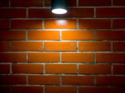 Brick Wall And Spotlight Background Stock Illustration - Illustration of lights, electricity ...