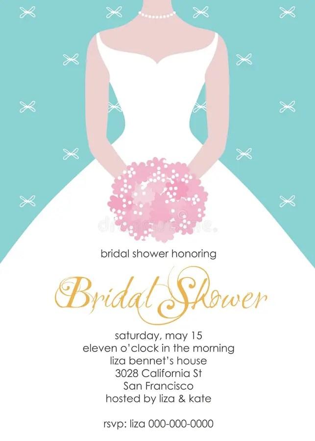 Bridal Shower Invitation Template Stock Vector - Illustration of - bridal shower invitation templates