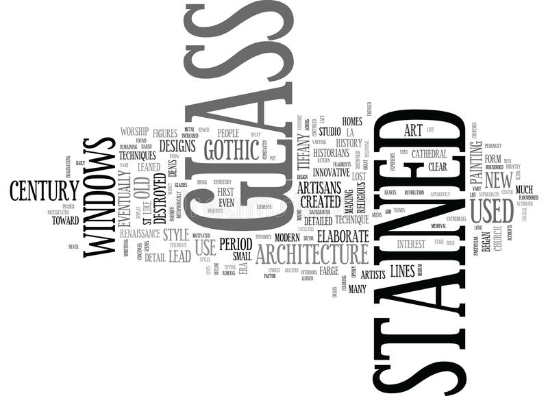 A Brief History Of Stained Glass Word Cloud Stock Illustration