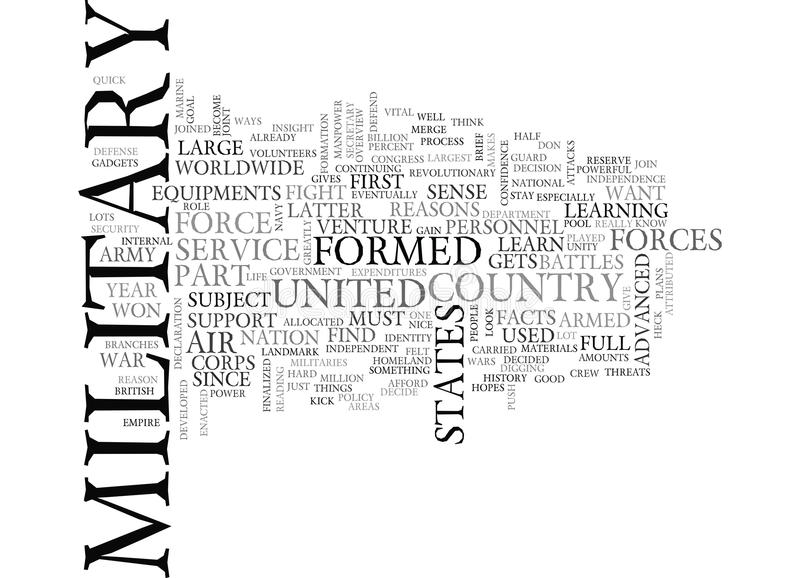 A Brief Overview About The Us Military Word Cloud Stock Illustration