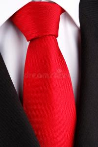 Bright red tie stock photo. Image of knot, white, suit ...
