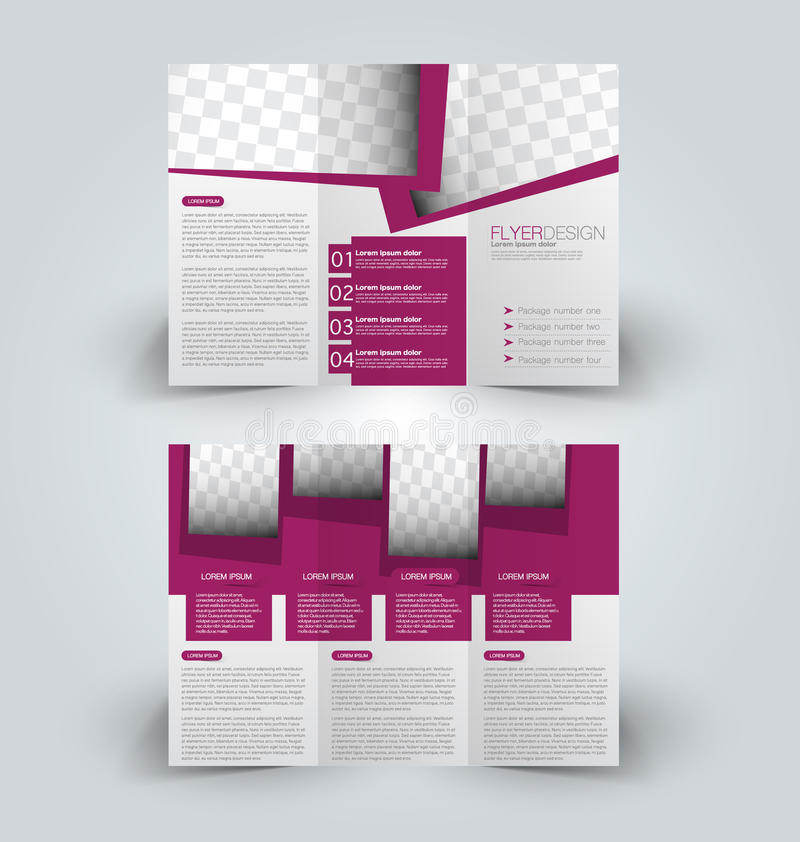 Brochure Mock Up Design Template For Business, Education - advertisement brochure