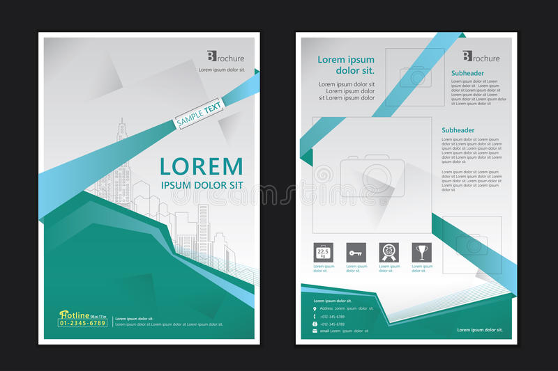 Brochure template stock vector Illustration of city - 57292345 - architecture brochure template