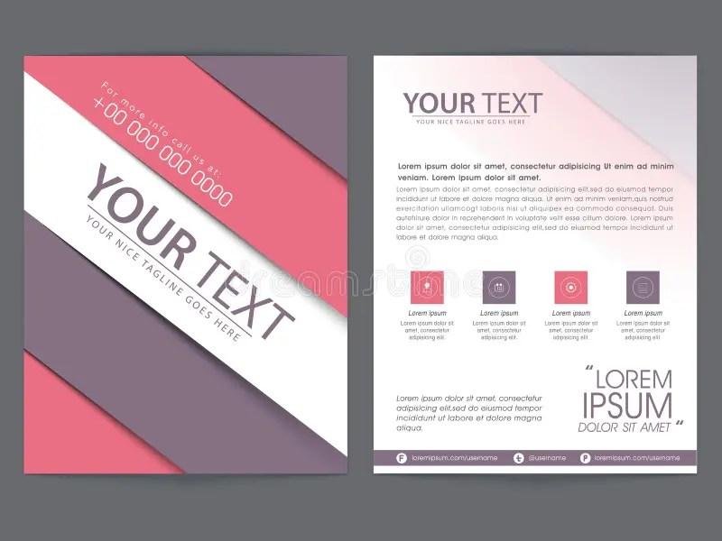 Brochure, Template Or Flyer Design For Business Stock Illustration