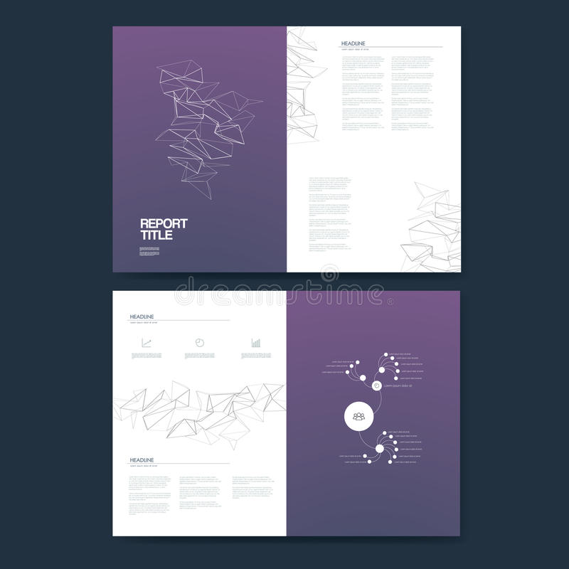 Business Annual Report Template Infographics Data Analysis Layout