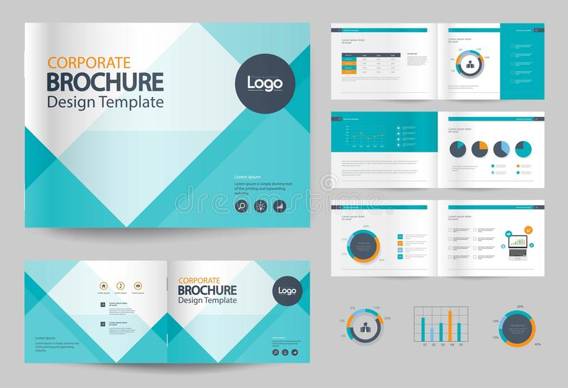 Business Brochure Design Template And Page Layout For Company - profile company template