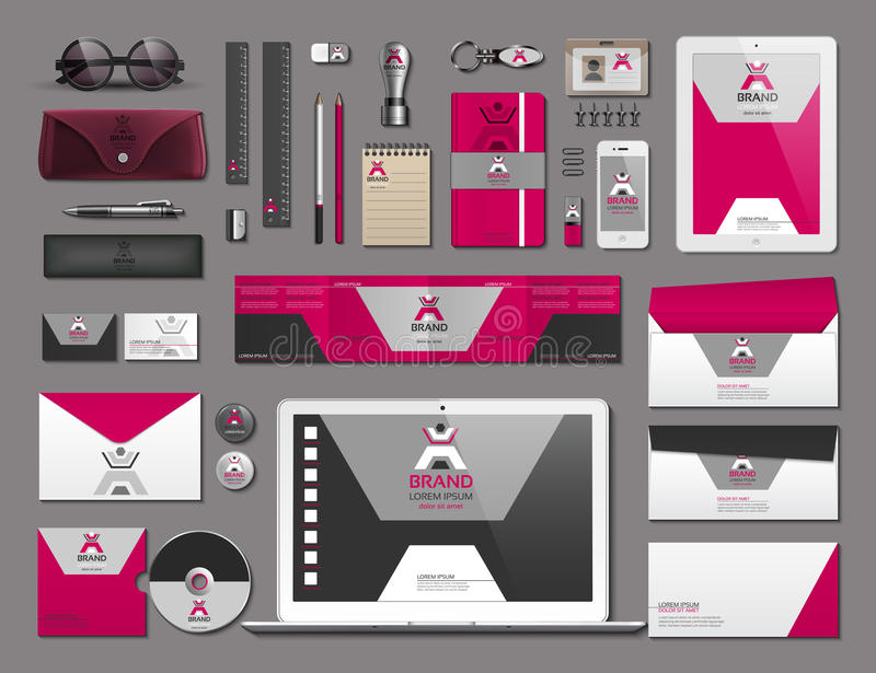 Business Corporate Identity Items Set Vector Working Articles Phone - Work Articles