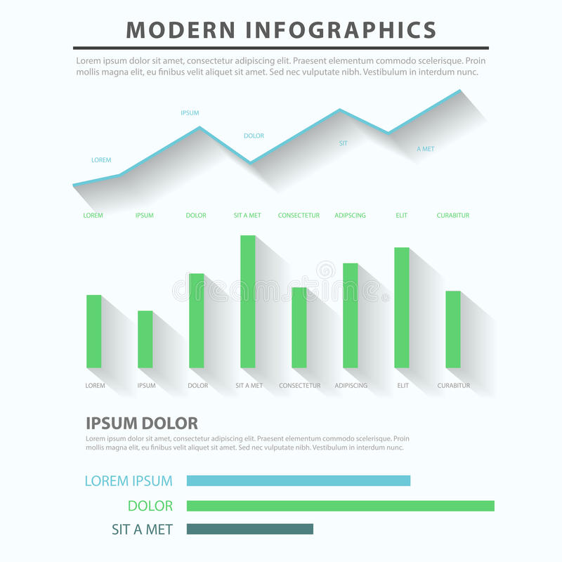 Business Diagram Chart Bar Graph Vector Infographic Template Stock