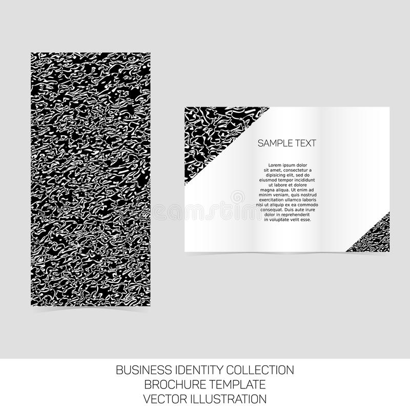 Business Identity Collection Black And White Chaos Tri-fold - black and white flyer template