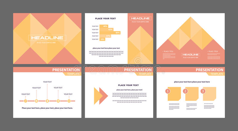 Business Marketing Presentation Slide Vectors Stock Vector