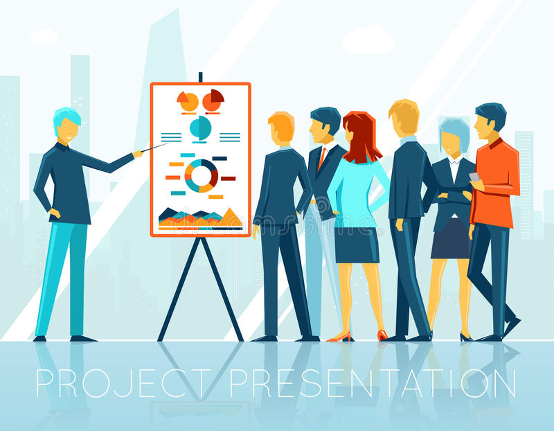 Business Meeting, Project Presentation Stock Vector - Illustration - Presentation Project