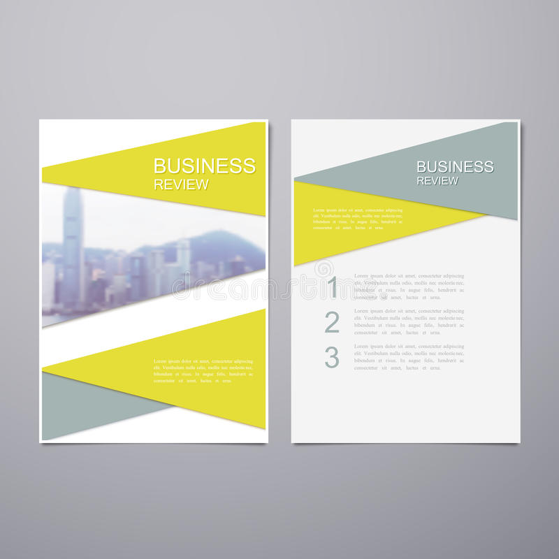 Business Review Brochure stock vector Illustration of marketing - business review template