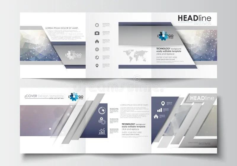 Business Templates For Tri-fold Brochures Square Design Leaflet