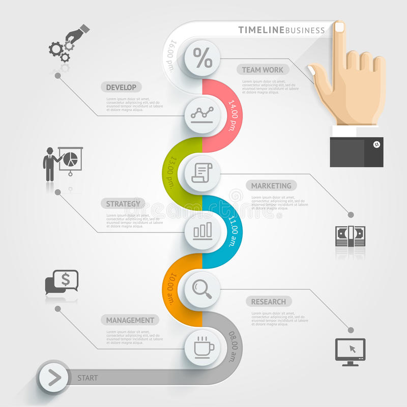Business Timeline Infographic Template Stock Vector - Illustration