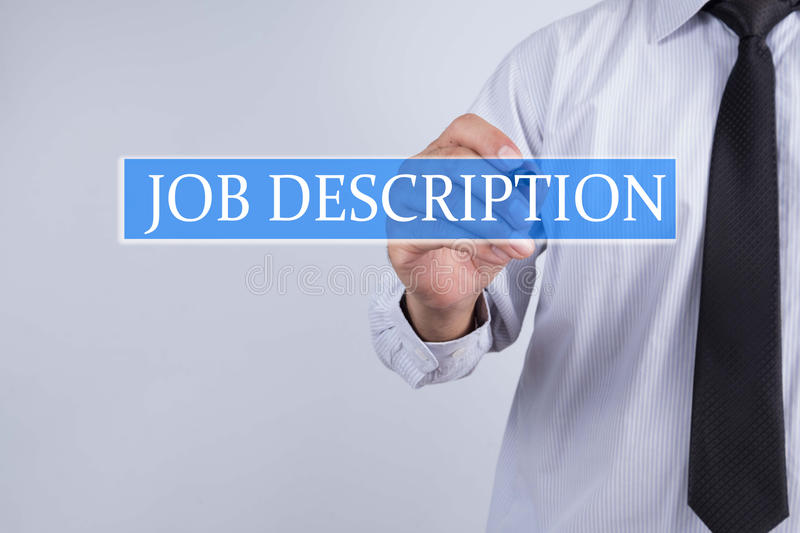 Businessman Draw Job Description Concept Stock Image - Image of - Stock Job Description