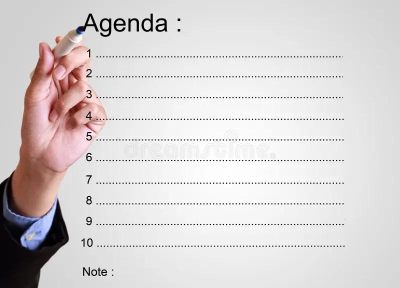 Businessman writing agenda stock image Image of concept - 51591535 - agenda writing