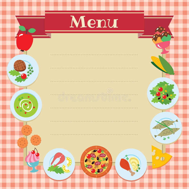 Cafe Or Restaurant Menu Template Stock Vector - Illustration of