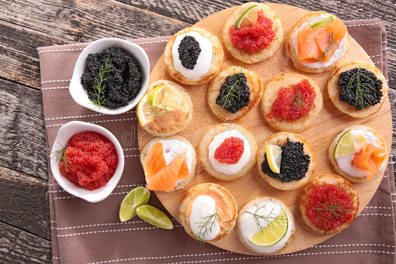 Canapes Finger Food Stock Photo Image Of Luxury Close - Canapés Pour Apéritif De Noel