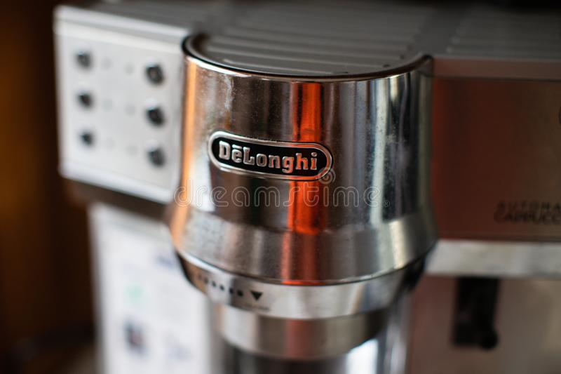 Delonghi Koffiezetapparaat Italian Coffee Maker Stock Image. Image Of Background