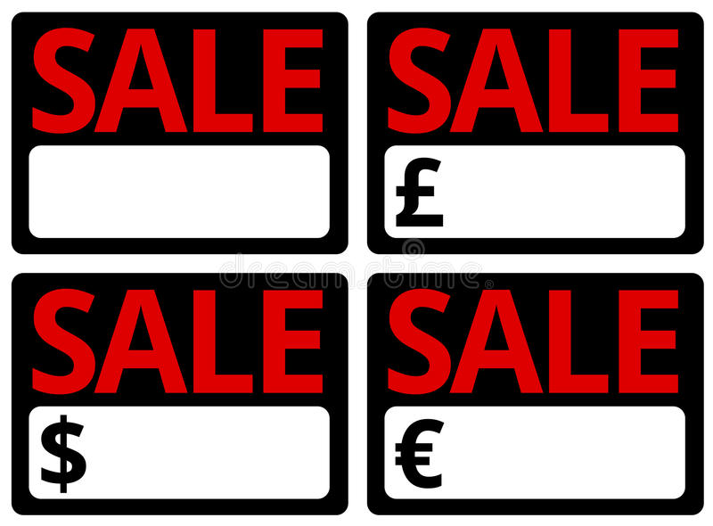Car Sale Signs stock illustration Illustration of used - 37488634